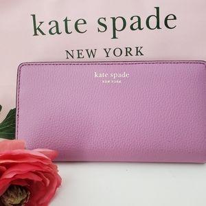 Kate spade eva lavender mauve slim bifold wallet